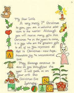 letter from santa for first christmas tugs at the heart With baby s first letter from santa