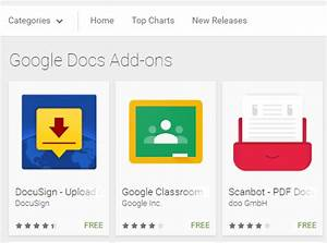 google announced android add ons for google docs and With google docs android add ons