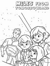 Miles Tomorrowland Coloring Pages Cartoon sketch template