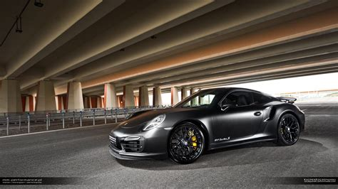 Matte Black Porsche 911 Turbo S By Mm Performance Gtspirit