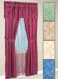 cara faux silk window treatment curtain panel neon blue by
