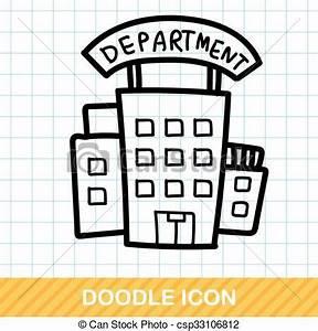 department store color doodle vector clip art - Search ...