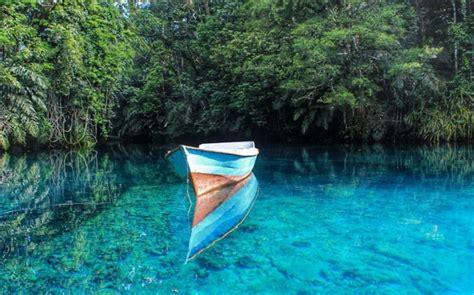 indahnya danau biru kolaka utara