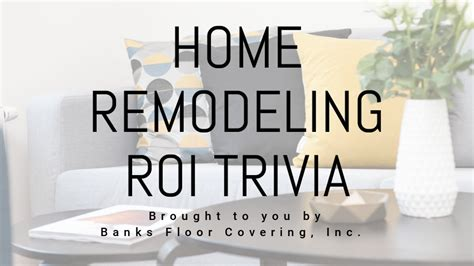 home remodeling roi trivia abc  news