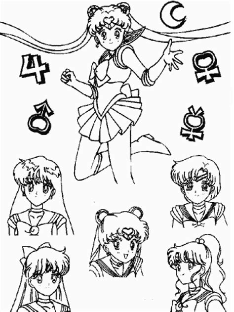 Best Sailor Moon Coloring Pages Ideas And Images On Bing Find