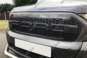 ford ranger t6 grille raptor style grille black letters With ford raptor grille letters