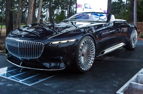 vision mercedes maybach  cabriolet wows pebble beach