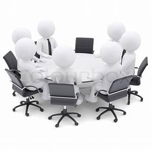 Eckbank Für Runden Tisch : 3d personen am runden tisch ein stuhl ist leer stockfoto colourbox ~ Bigdaddyawards.com Haus und Dekorationen