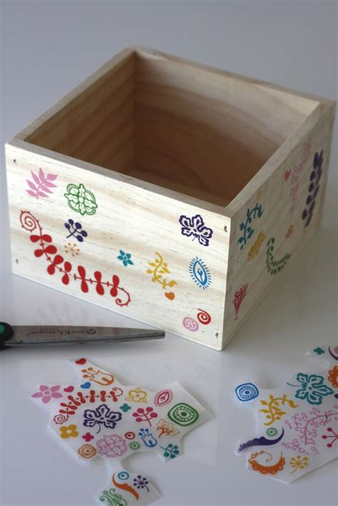 diy decorative wooden box for easter catch my party