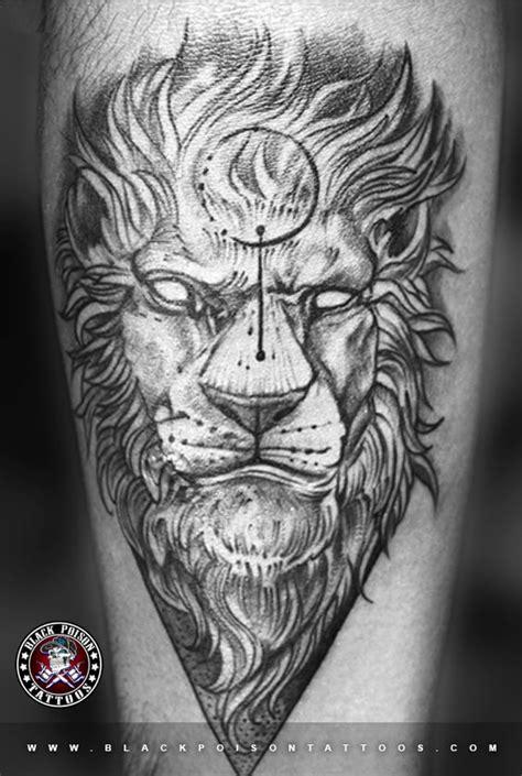 lion chest tattoo  tattoo studio  india black poison