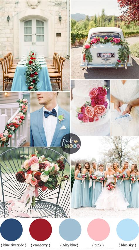 turquoise tablecloth cranberry sky blue wedding colour combinations for autumn