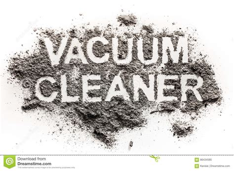 Vacuum Word by Vacuum Cleaner Word Text Written In Dust Or Dirt As