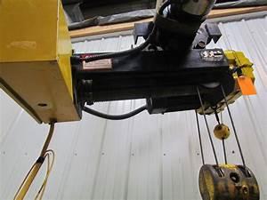 R U0026m Spacemaster Ii 2 Ton 4000lb Wire Rope Electric Crane