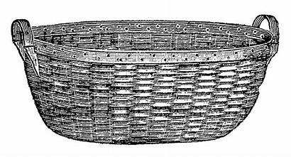 Laundry Basket Clipart Wood Clip Woven Stamp