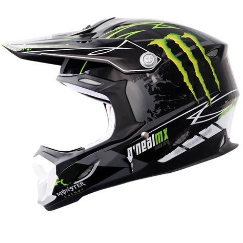 oneal motocross helmets oneal 712 monster energy black green motocross helmet acu