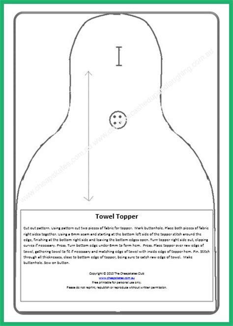 Kitchen Towel Template by Debt Free Cashed Up And Laughing The Cheapskates Way To