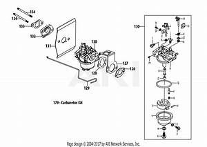 Troy Bilt 5x65ru Engine Parts Diagram For 5x65ru Carburetor