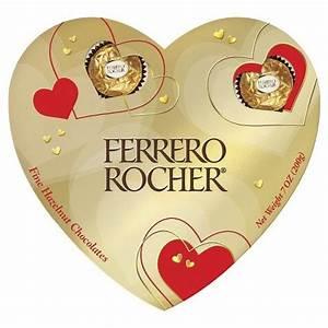 Ferrero Rocher Fine Hazelnut Chocolates Heart Box 7 oz ...