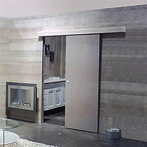 Porte Coulissante Applique : kit coulissant pour porte en applique avec ou sans ~ Carolinahurricanesstore.com Idées de Décoration