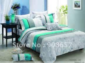 Grey and Teal Bedding Sets