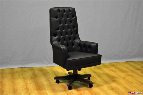 Presidential And Directional Office Armchair In Genuine