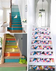 renover un escalier en 2h top chrono mademoiselle deco With peindre des marches d escalier en bois 3 deco escalier des idees pour personnaliser votre escalier