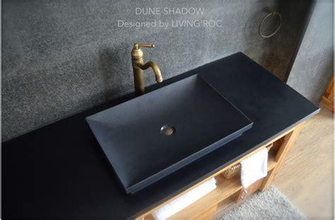 entretien evier granit noir vasque en 201 vier en dune shadow granit noir 60x40cm salle de bain living roc