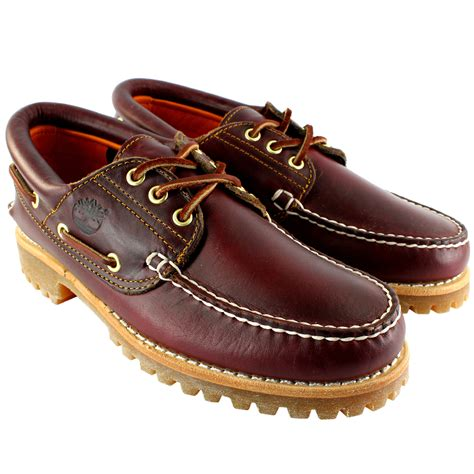 Men S Timberland Heritage Boat Shoes by Mens Timberland Heritage Classic Lug Leather Lace Up Boat