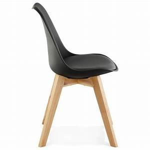 Chaise Scandinave Noir : chaise contemporaine style scandinave fjord noir ~ Teatrodelosmanantiales.com Idées de Décoration