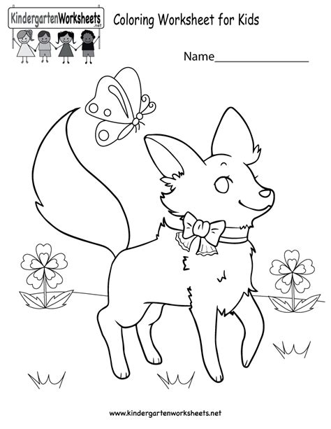 coloring worksheet  kids  kindergarten learning