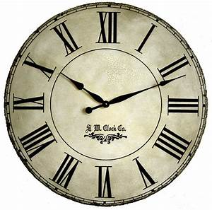 Large wall clock 30 inch grand gallery ii antique by klocktime for 30 inch round wall clock
