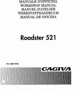 Cagiva Roadster 521 1994 Repair Service Manual Pdf