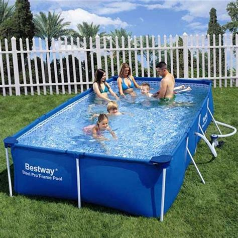 bestway rectangular steel frame pool