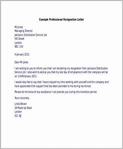 Formal Resignation Letter Format Free 9 Sample Resignation Letters In Ms Word Pdf