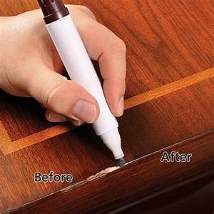 Here39s how to remove scratches from wood furniture for Home depot furniture touch up pen