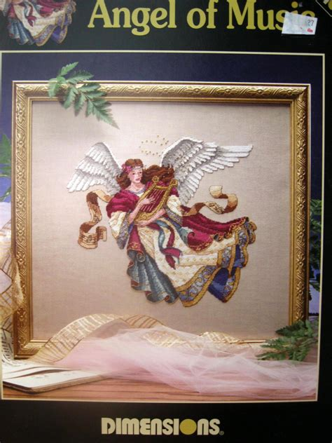 dimensions angel of music james himsworth cross stitch