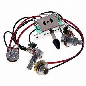 2sets Wiring Harness Prewired  5 Jack 500k Pots