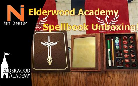 elderwood academy spellbook unboxing nerd immersion