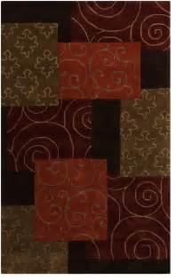 contemporary cosmopolitan 5 x8 rectangle dark brown