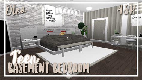 roblox bloxburg teen basement bedroom youtube