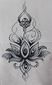 Dessin Fleurs De Lotus : dessin de fleur de lotus tatouage tatouage ~ Dode.kayakingforconservation.com Idées de Décoration