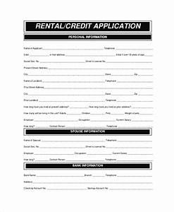 Credit Application Template Word Sample Rental Application 8 Examples In Pdf Word