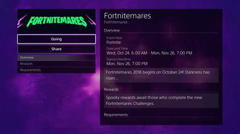 fortnitemares  start   date announced fortnite