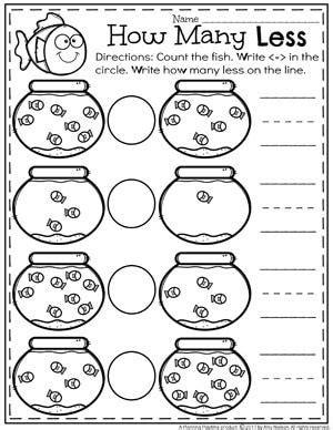 comparing numbers worksheets kindergarten math