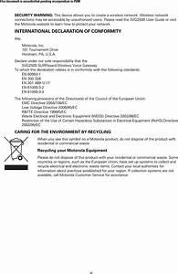 Arris Svg2500 Surfboard Voice Gateway User Manual