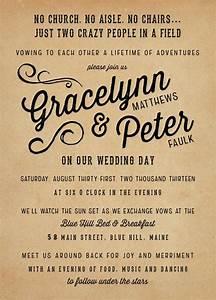 best 25 vintage wedding invitations ideas on pinterest With wedding evening invitations funny