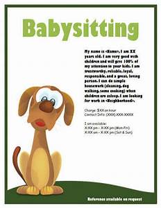 babysitting flyers and ideas 16 free templates With dog babysitting service