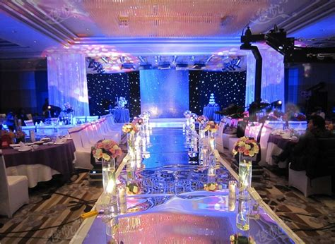Wedding Centerpieces Mirror Carpet Aisle Runner Gold Silver Double Side Design T Station