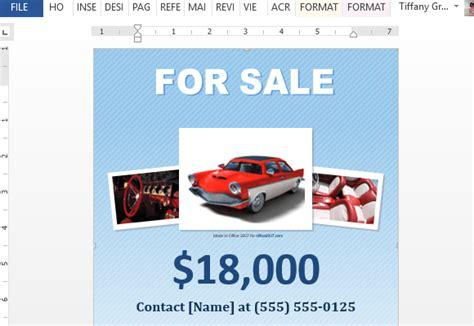 car  sale flyer templates excel  formats