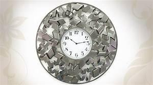 Décoration Murale En Métal Design : horloge d co murale en m tal design moderne 78 cm ~ Teatrodelosmanantiales.com Idées de Décoration